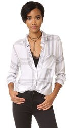 Rails Hunter Button Down Shirt White Sterling