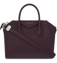 Givenchy Antigona Sugar Small Leather Tote Dark Purple