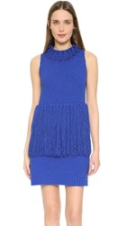 3.1 Phillip Lim Tank Dress With Fringe Cobalt