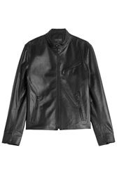 Ralph Lauren Black Label Leather Jacket Black