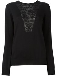 Lanvin Lace Detail Jumper Black
