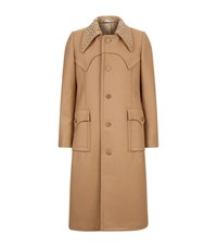 J.W.Anderson Studded Collar Tailored Coat Male Camel