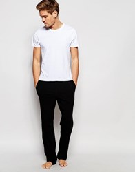 Hugo Boss Loungepants With Contrast Waistband In Loose Fit Black