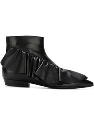 J.W.Anderson J.W. Anderson Ruffle Ankle Boots Black