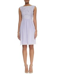 Ted Baker Lace Chiffon Short Dress Light Purple