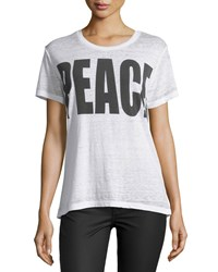 Chaser 'Peace' Graphic Tee White