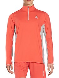 Psycho Bunny Performance Half Zip Pullover Poppy Red