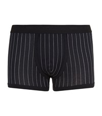 Dolce And Gabbana Pinstripe Trunks Male Black