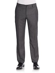 Giorgio Armani Virgin Wool Trousers Grey