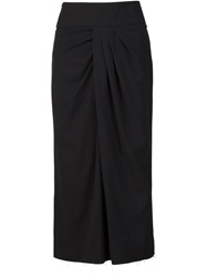 Alexandre Plokhov Twisted Front Skirt Black