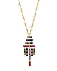 Charm And Chain Pendant Necklace 30 Multi