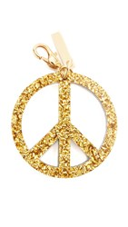 Edie Parker Peace Keychain Gold Silver