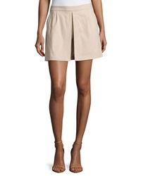 Laundry By Shelli Segal Pleated Side Zip Skort Oxford Tan
