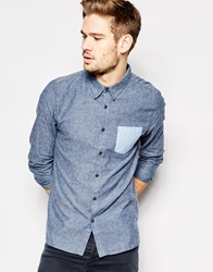 Another Influence Brushed Shirt With Contrast Pocket Red