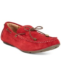 Alfani Trevor Braided Lace Drivers Only At Macy's Men's Shoes Red