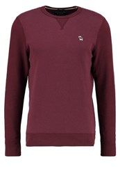 Abercrombie And Fitch Muscle Fit Sweatshirt Textured Burgundy Bordeaux