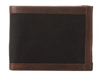 Will Leather Goods Ethan Billfold Black Brown Bill Fold Wallet