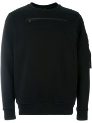 Marcelo Burlon County Of Milan Front Zip Sweatshirt Black