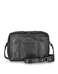 Zadig And Voltaire Boxy Black Leather Crossbody Bag