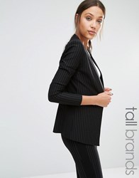 Y.A.S Tall Penno Fitted Collarless Blazer Black