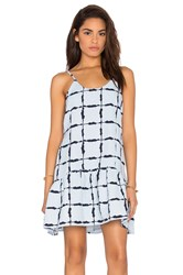 J.O.A. Box Checkered Dress Baby Blue