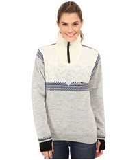 Dale Of Norway Glittertind Feminine Light Charcoal Navy Cobalt Off White Women's Sweater Gray