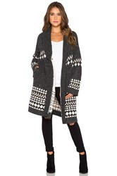 Minkpink Sweet Like Chocolate Cardigan Charcoal
