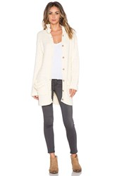 For Love And Lemons Billy Knit Cardigan Cream