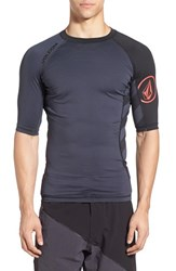 Men's Volcom 'Change Up' Short Sleeve Rashguard Charred