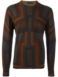 Etro Patterned Round Neck Pullover Multicolour