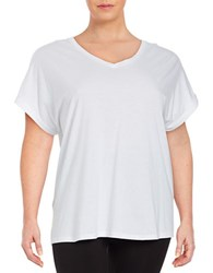 Lord And Taylor Knit Cotton Tee White