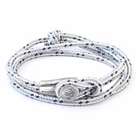 Anchor And Crew Grey Dash Dundee Rope Bracelet