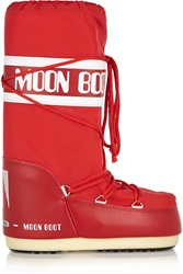 Moon Boot Pique Shell And Faux Leather Boots