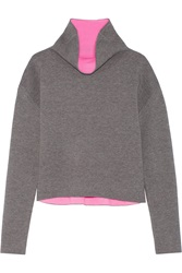 Milly Reversible Stretch Knit Turtleneck Sweater
