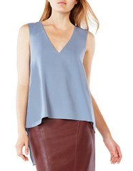 Bcbgmaxazria Tayloir Hi Lo Sleeveless Top Light Blue