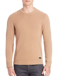 Belstaff Margate Virgin Wool And Cashmere Pullover Camel Natural White