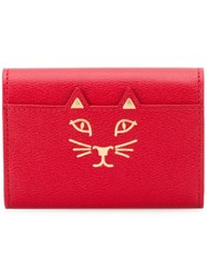 Charlotte Olympia 'Feline' Card Holder Red