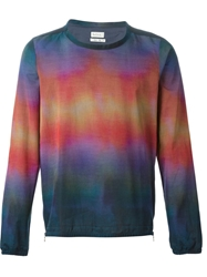Paul Smith Side Zip Gradient Rainbow T Shirt