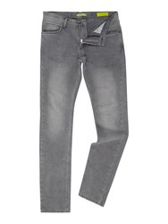 Versace Slim Fit Washed Grey Jeans