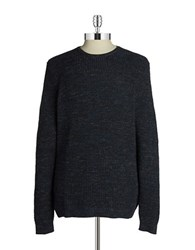 Black Brown Textured Pullover Sweater Blue