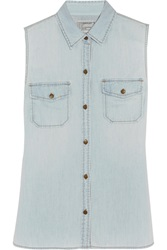 Current Elliott The Sleeveless Perfect Denim Shirt