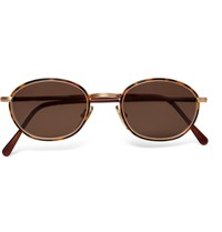 Cutler And Gross 1995 Ltd Vintage Round Frame Acetate Gold Tone Sunglasses Tortoiseshell