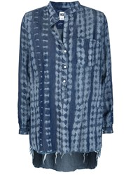 Nsf Tie Dye Denim Tunic Blue
