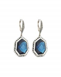 Stephen Dweck Freeform Faceted Blue Quartz Drop Earrings