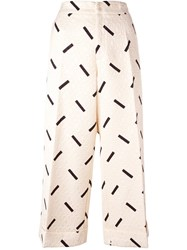 Eggs 'Kinder' Cropped Trousers Nude Neutrals