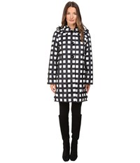 Kate Spade Check Raincoat 37 Pop Art Check Women's Coat Black