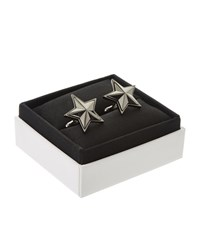 Givenchy Brass Star Cufflinks Unisex Silver
