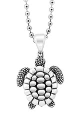 Women's Lagos 'Rare Wonders Turtle' Long Talisman Necklace Silver Turtle