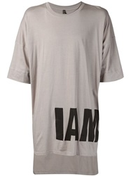 Barbara I Gongini 'I Am' T Shirt Grey