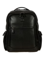 Bric's Varese Executive Saffiano Leather Large Backpack Black